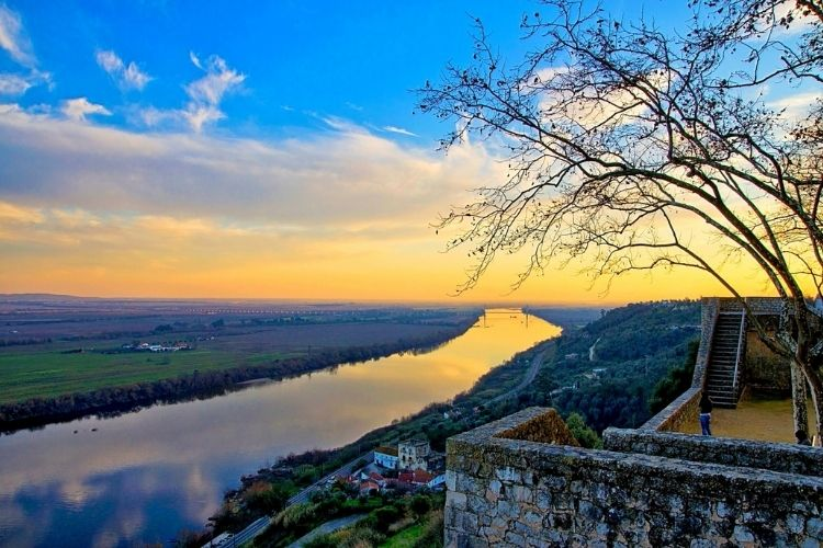 santarém portugal - jardim portas do sol