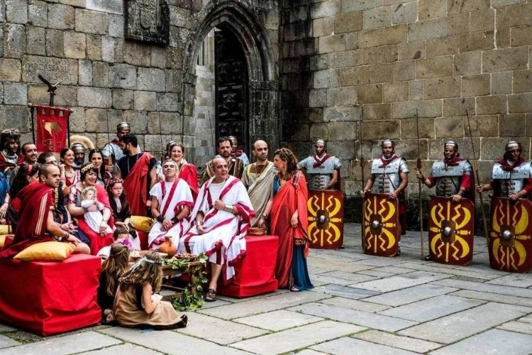 Festa romana em braga